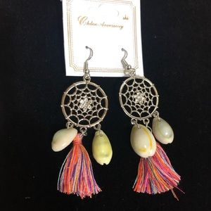 Silver Dream Catcher Earrings NWT